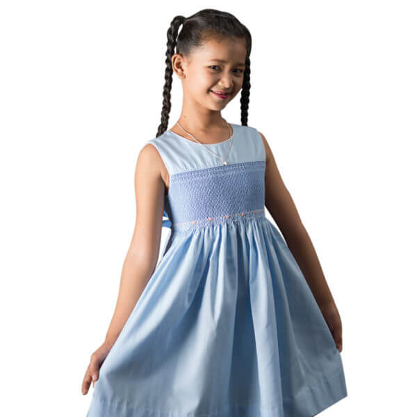 Danei in blue dress with no background Square