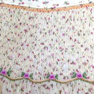 Cotton Lawn Floral on Ecru Dress