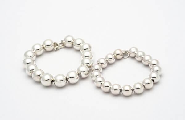Silver beads braceletslarge