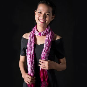 Handwoven Tie-Dyed Silk Scarves