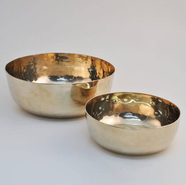 hand hammered bronze tableware