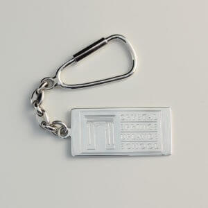 Sterling Silver Pendant Key Ring