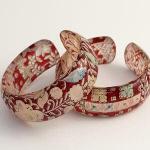 Sarasa Silk and Acrylic Bangle