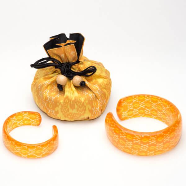yellow acrylic bangles WP 1