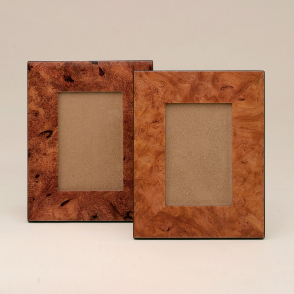 Natural Burl Wood Frames — Kasumisou