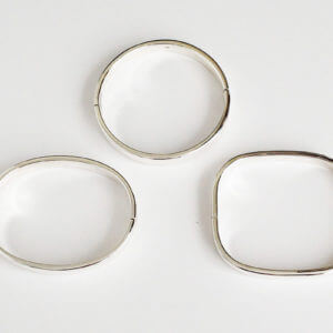 Sterling Silver Hinged Bangles