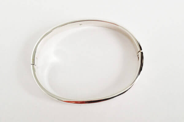 sterling silver hinged bangle oval