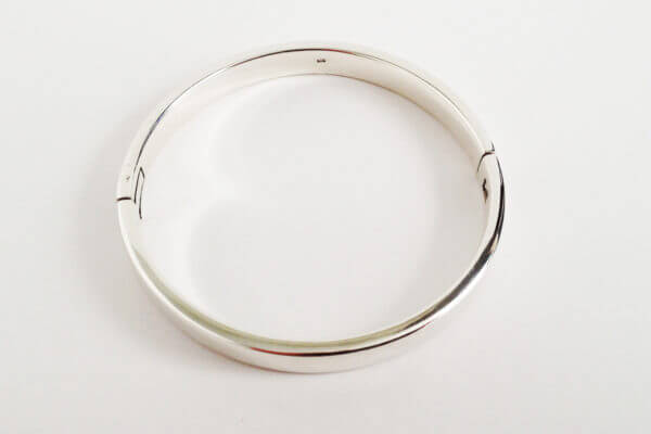 sterling silver hinged bangle round III