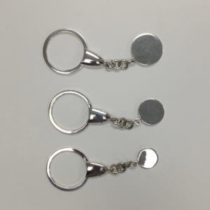 Sterling Silver Squeeze Key Ring