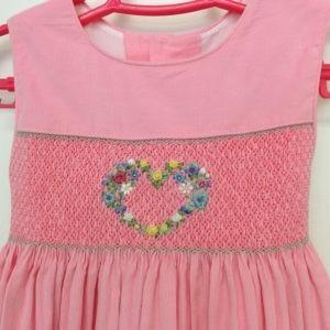 """Pink corduroy """"Floral Heart"""" Jumper"""