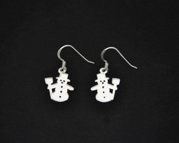Snowman earrings800