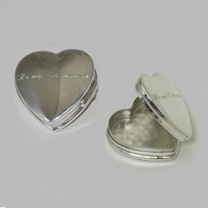Sterling Silver Heart-Shaped Pillbox