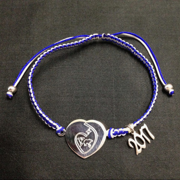 Sacred Heart Tokyo spirit bracelet with 2017 grad year charm attached
