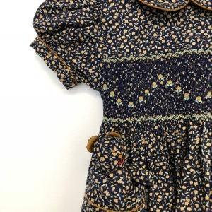 Indigo Floral Print Dress