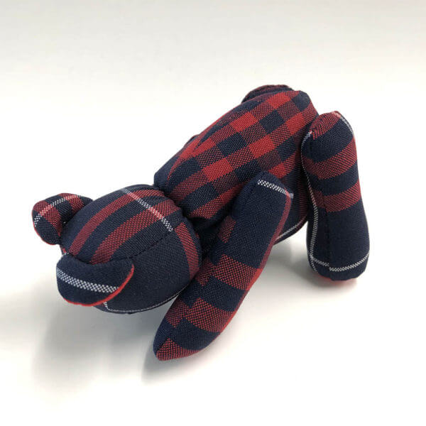 Plaid Lad® downward dog