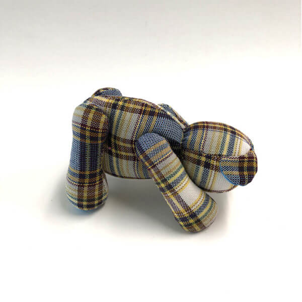 Plaid Lad® downward facing dog