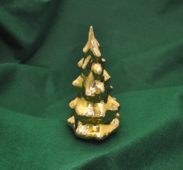 Gold-washed silver Christmas tree by Cambodian master silversmith Som Samay