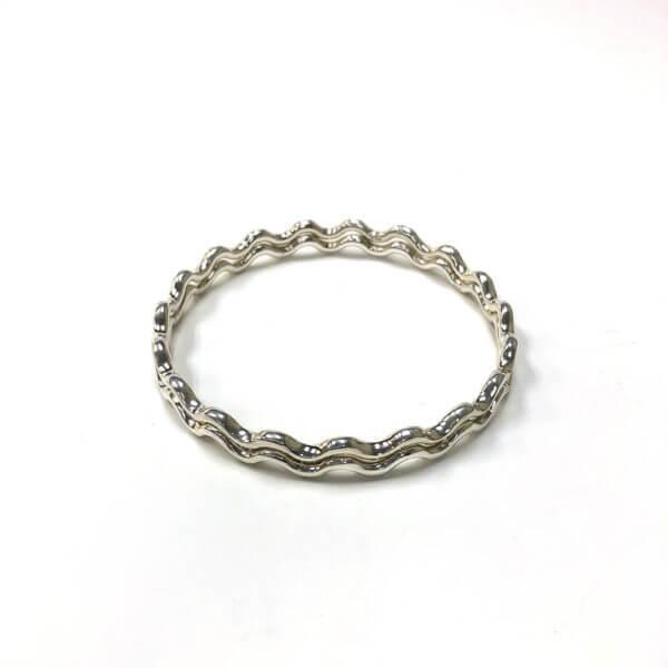 Sterling silver zig zag bangles