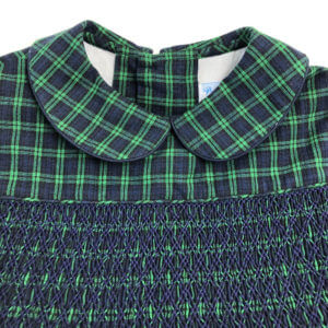Green and Blue Plaid Dress