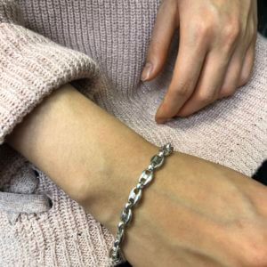 Sterling Silver 'Bike Chain' Bracelet®