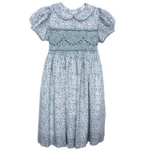 Cotton Lawn Blue Floral Dress