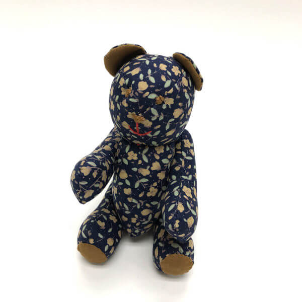 Indigo floral pocket pal® bear
