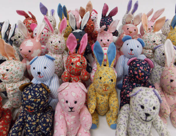 Pocket pal® bunnies and bears group photo