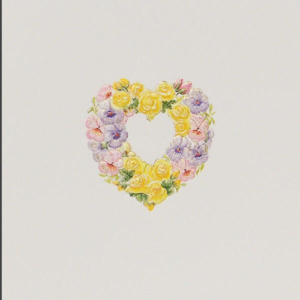 Floral Heart note card closeup1000 pixels
