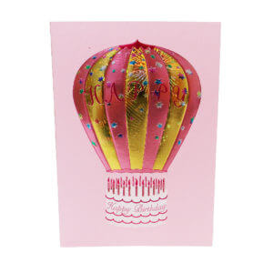 Paula Skene Designs Happy Birthday Hot Air Balloon – pink