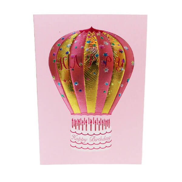 Hot Air Balloon pink front view 1000 pixels 1
