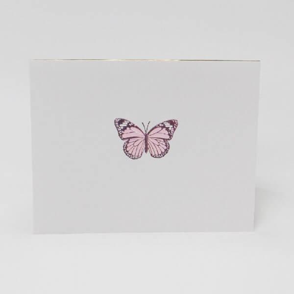 Pink Butterfly note card II 1000 pixels
