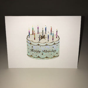 Paula Skene Designs Starring Birthday Cake birthday card