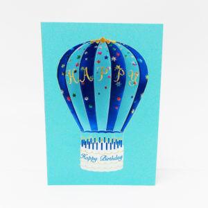 Paula Skene Designs Happy Birthday Hot Air Balloon – blue