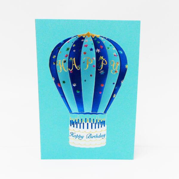 Hot Air Balloon blue 6x6 inchesII