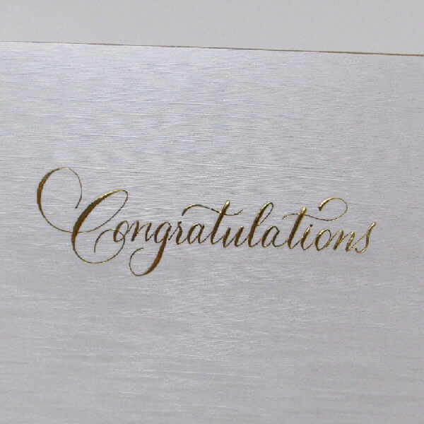 Paula Skene Designs Congratulations card closeup