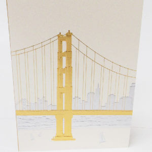 Paula Skene Designs San Francisco skyline note card