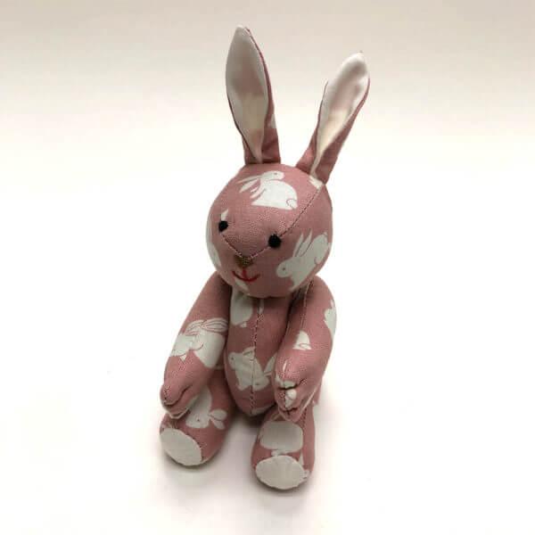 Rose bunny print pocket pal bunny