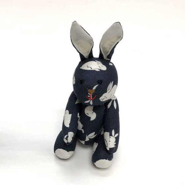 Blue bunny print pocket pal bunny