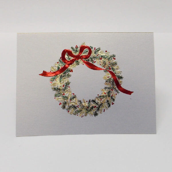 green and gold wreath with red bow 1000 pixels