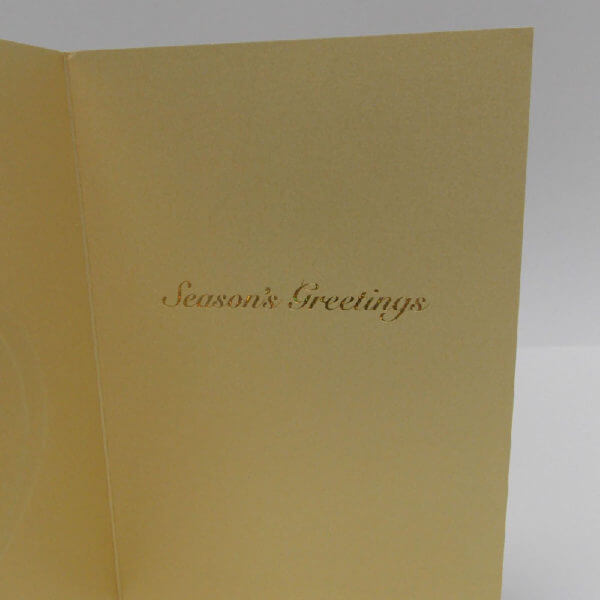 inside greeting of red ornament on gold card 1000 pixels