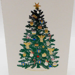 Paula Skene Designs Christmas tree card