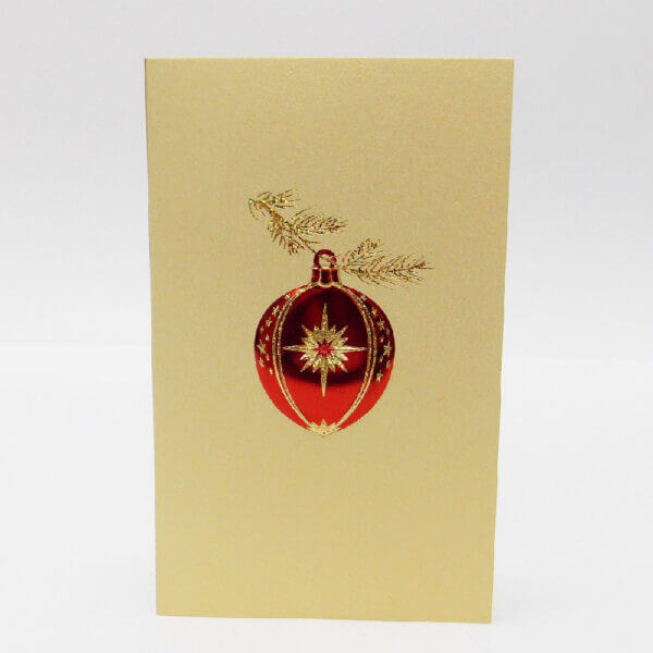 red ornament on gold mini note 1000 pixels