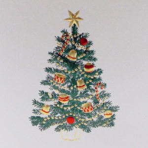 Paula Skene Designs jewel Christmas tree card