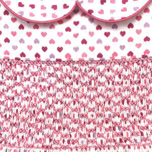 Tiny Hearts Print Smocked Dress