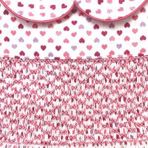 Tiny Hearts Print Smocked Dress