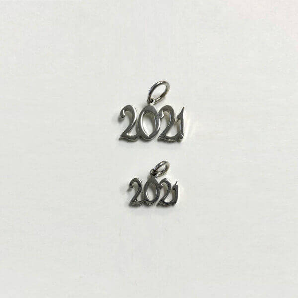 Sterling silver 2021 Grad Year Charms - standard and mini
