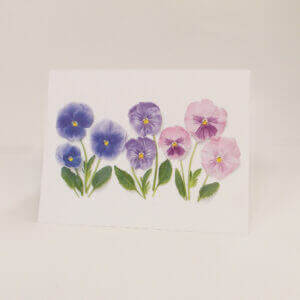 Bottle Branch® More Purple Pansies note card
