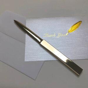 bronze letter opener