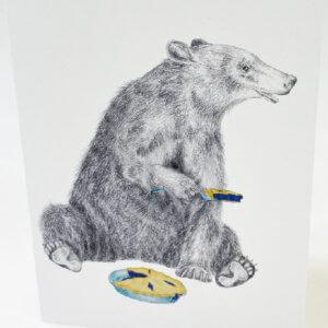 Central & Gus© Albert Finnegan Black Bear Notecard