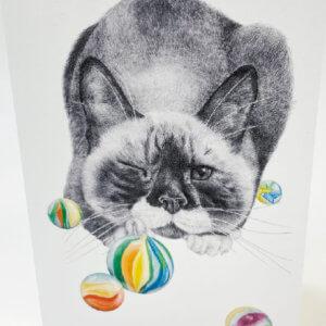 Central & Gus© Brutus Bangor Beefcake Cat Notecard